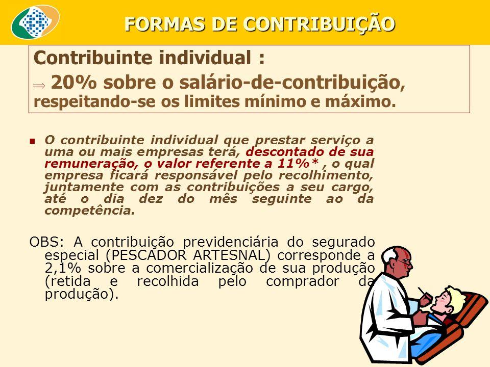 FORMAS DE CONTRIBUIÇÃO
