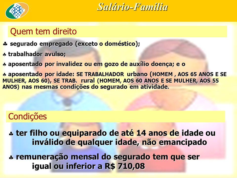 Salário-Família Quem tem direito Condições