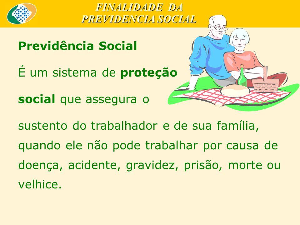 FINALIDADE DA PREVIDENCIA SOCIAL