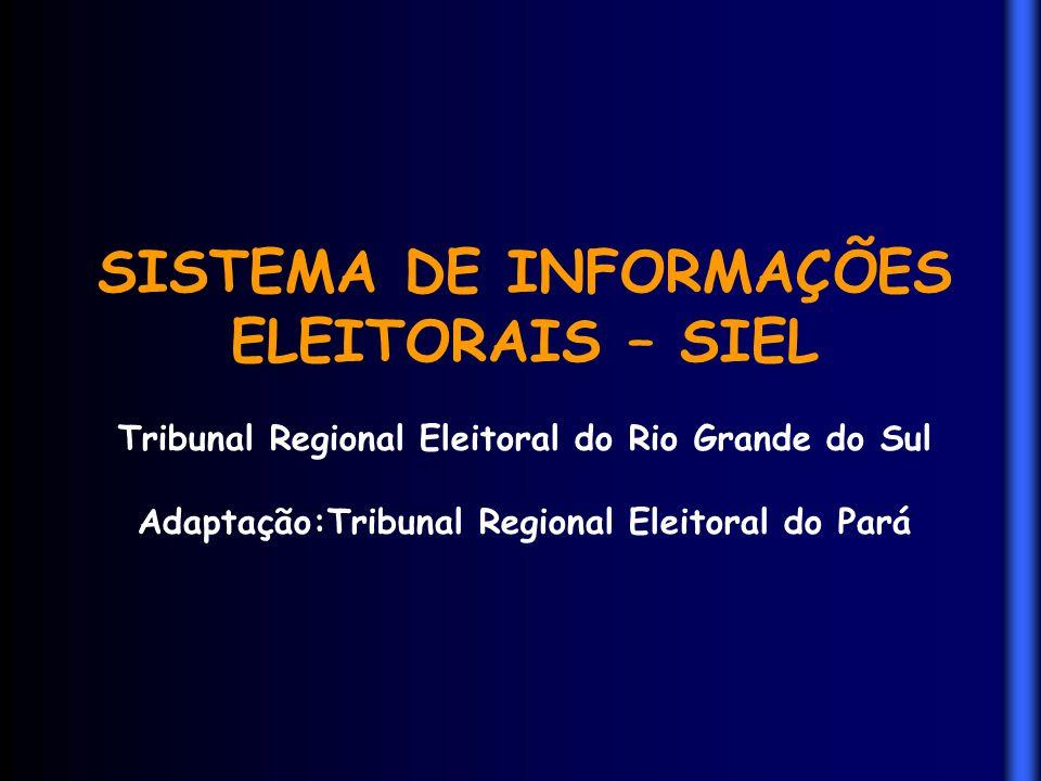 SISTEMA DE INFORMAÇÕES ELEITORAIS – SIEL
