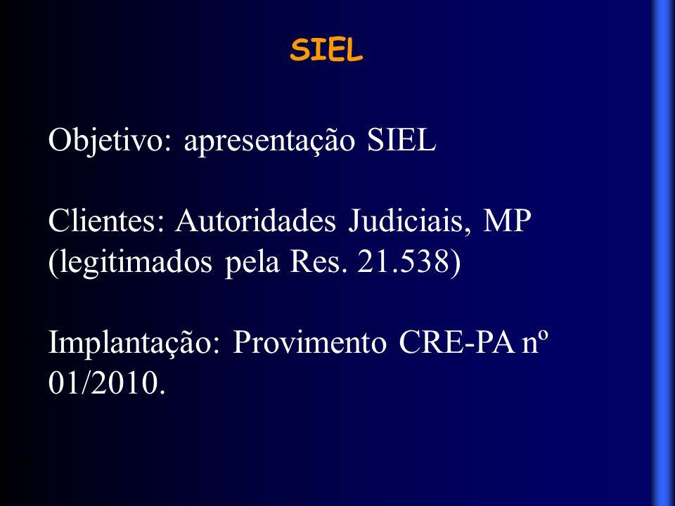 Objetivo: apresentação SIEL