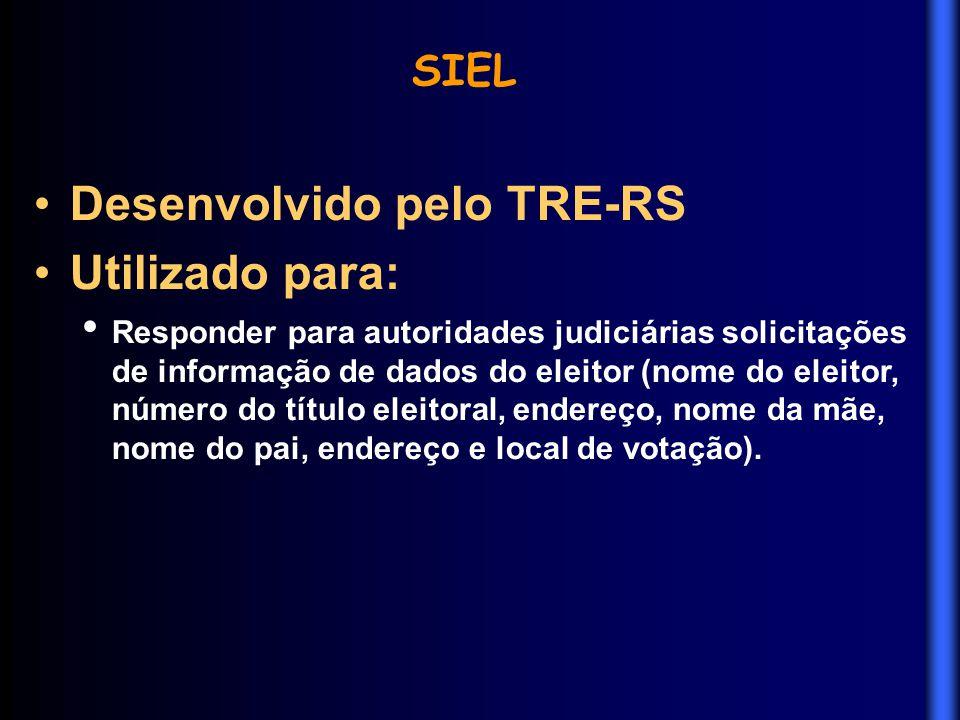 Desenvolvido pelo TRE-RS Utilizado para: