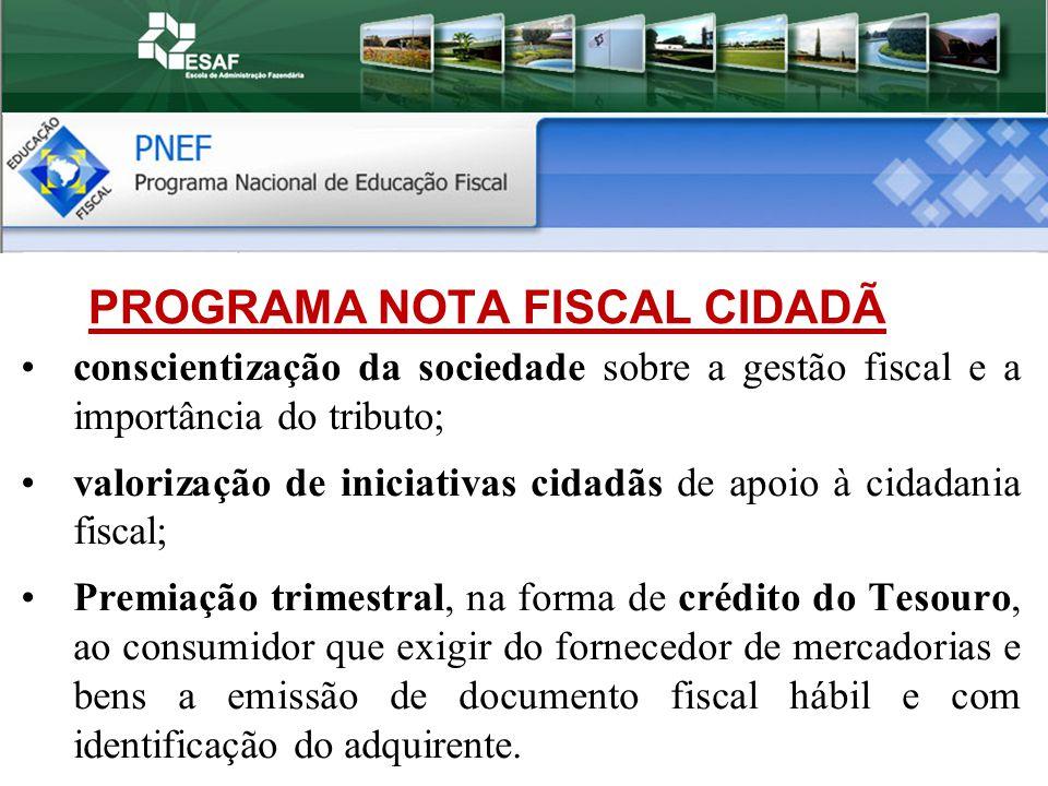 PROGRAMA NOTA FISCAL CIDADÃ