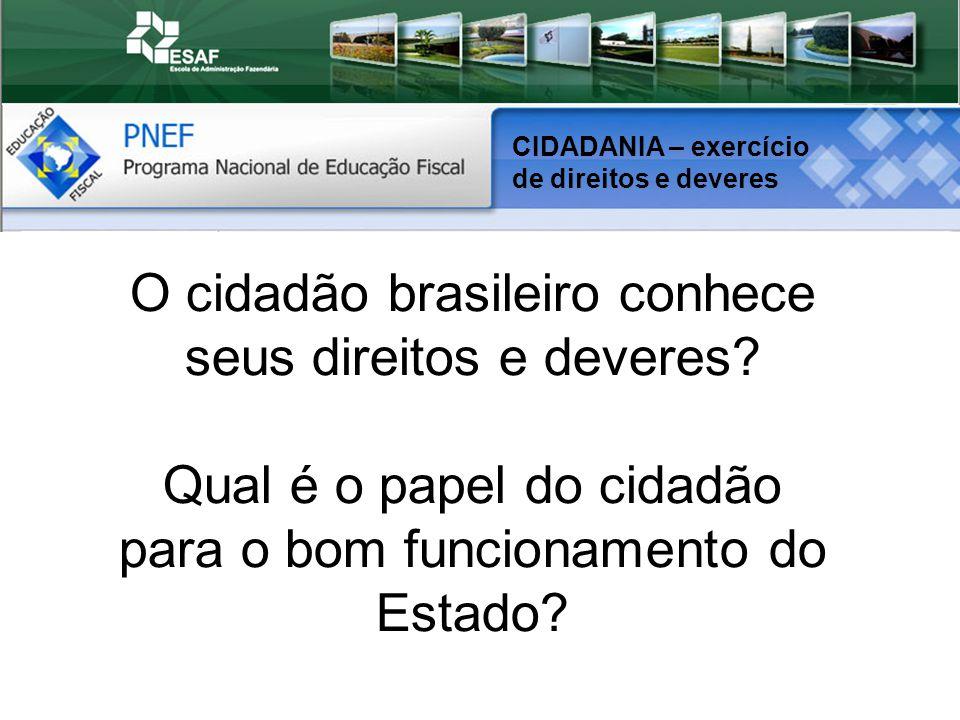 O cidadão brasileiro conhece seus direitos e deveres
