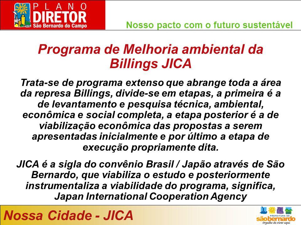 Programa de Melhoria ambiental da Billings JICA