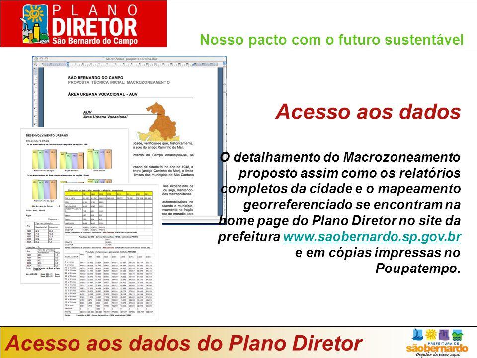 Acesso aos dados do Plano Diretor