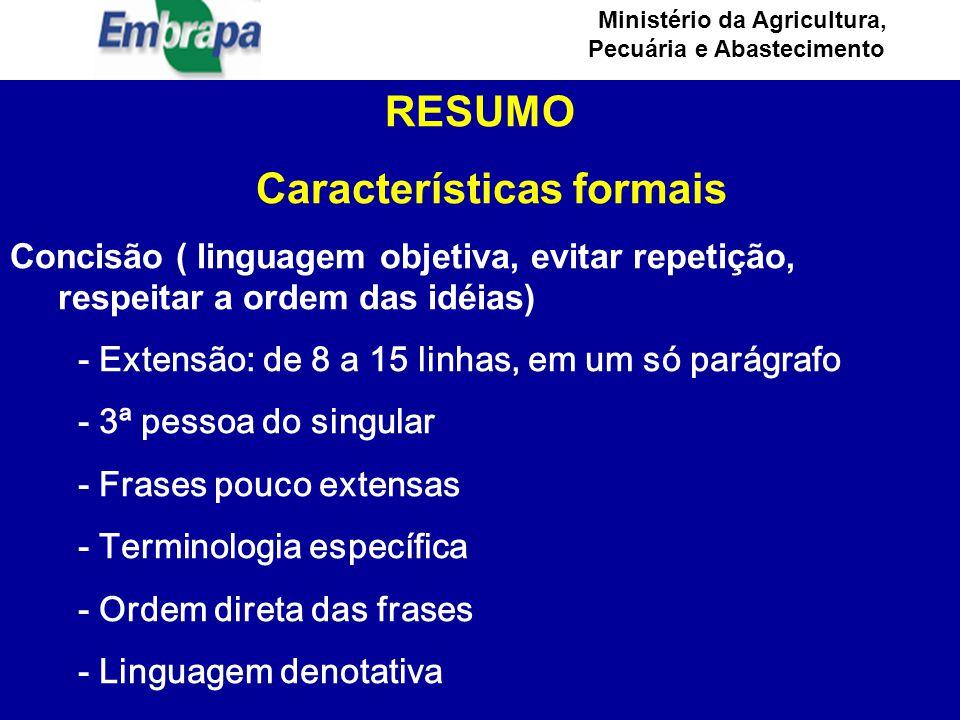Características formais