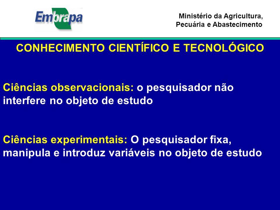 CONHECIMENTO CIENTÍFICO E TECNOLÓGICO