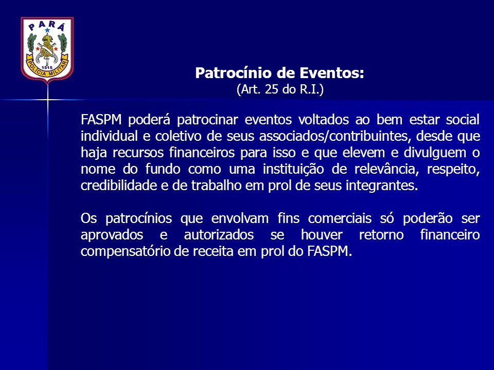 Patrocínio de Eventos:
