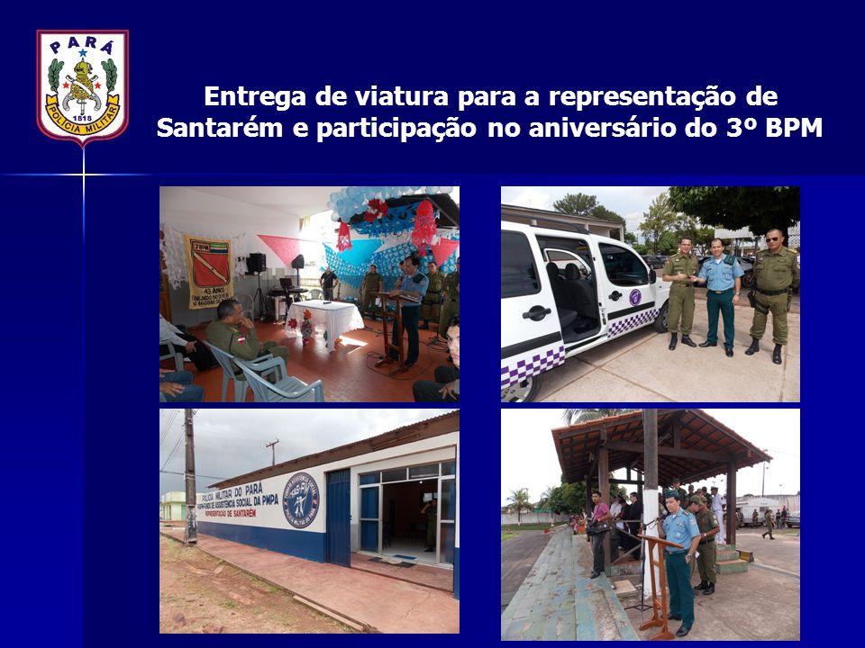 Entrega de viatura para a representação de Santarém e participação no aniversário do 3º BPM