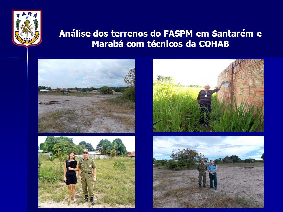 Análise dos terrenos do FASPM em Santarém e Marabá com técnicos da COHAB