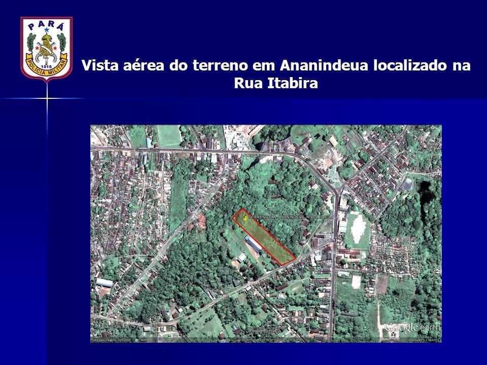 Vista aérea do terreno em Ananindeua localizado na Rua Itabira