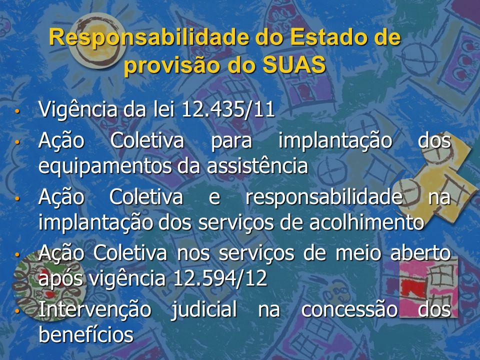Responsabilidade do Estado de provisão do SUAS