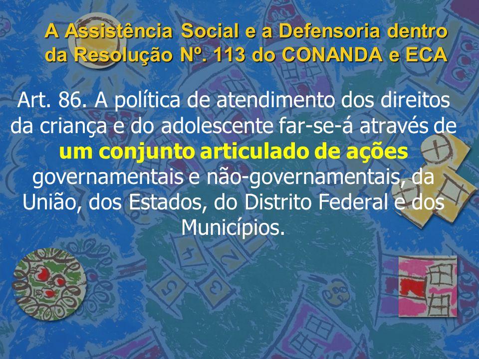 A Assistência Social e a Defensoria dentro da Resolução Nº