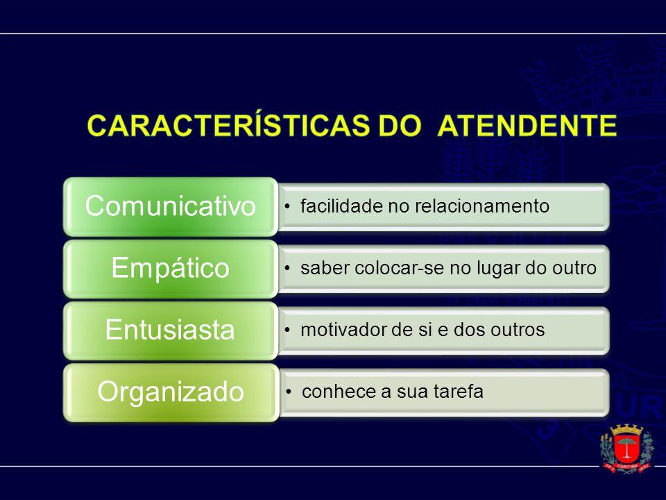 CARACTERÍSTICAS DO ATENDENTE