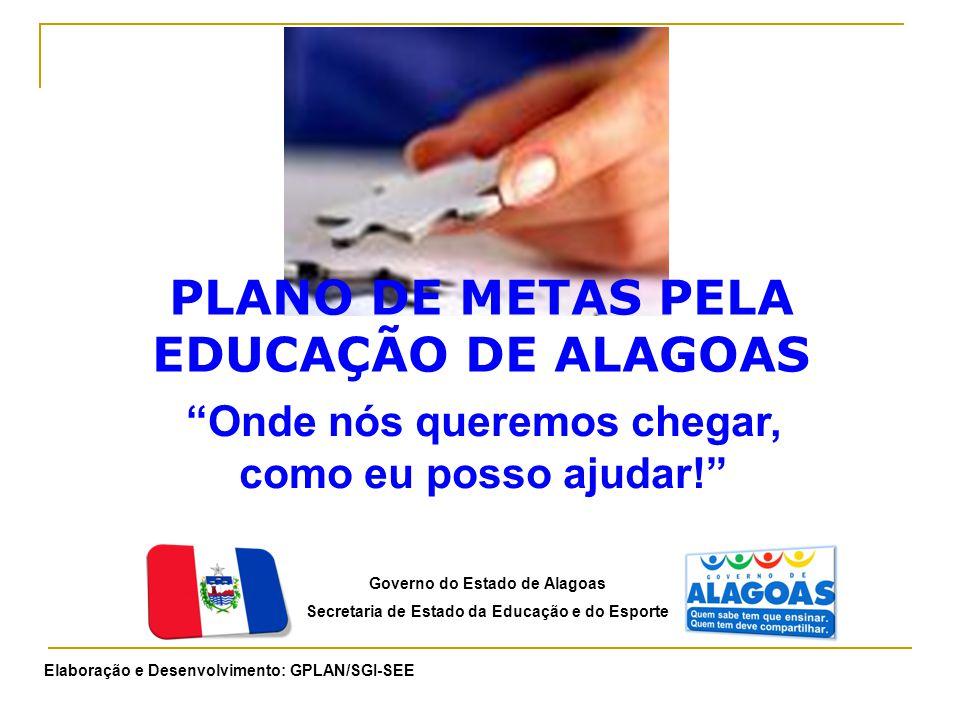 PLANO DE METAS PELA EDUCAÇÃO DE ALAGOAS