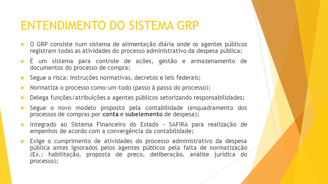 ENTENDIMENTO DO SISTEMA GRP