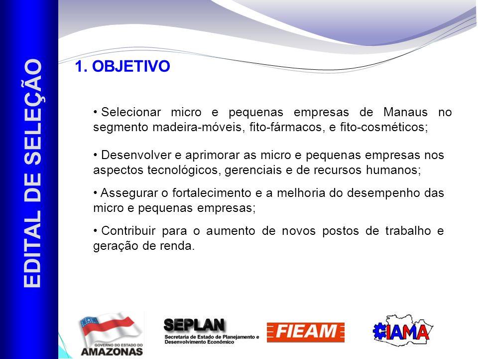 EDITAL DE SELEÇÃO 1. OBJETIVO