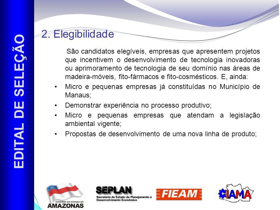 EDITAL DE SELEÇÃO 2. Elegibilidade