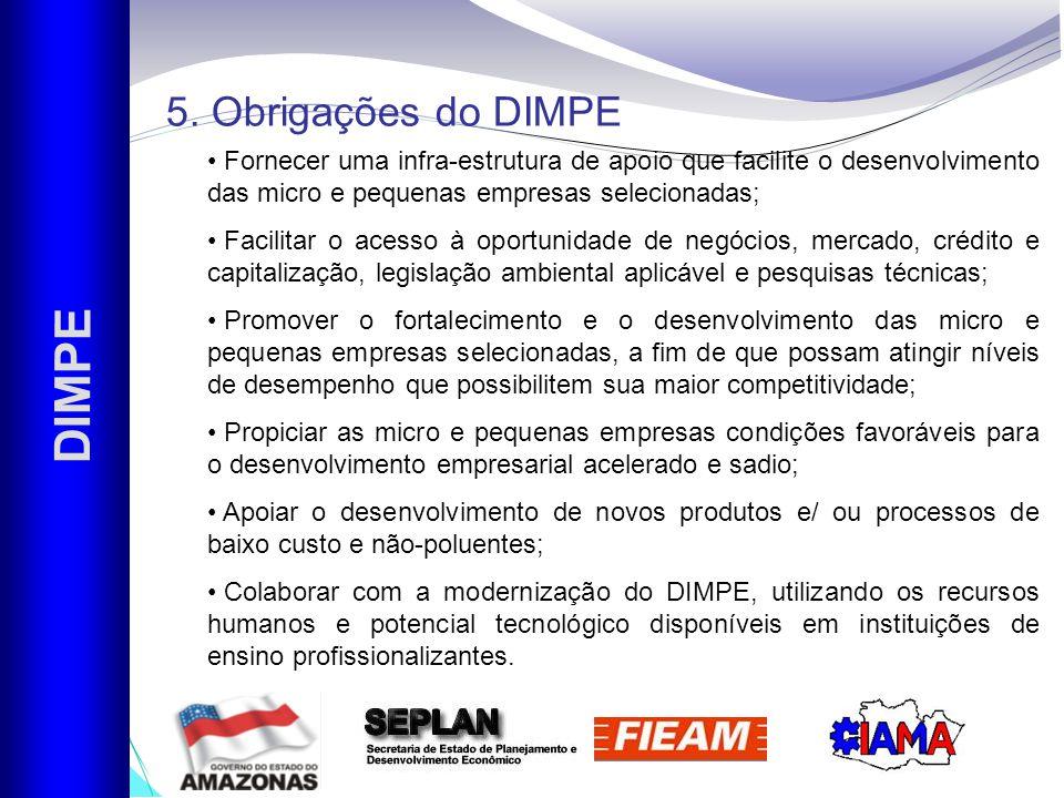 DIMPE 5. Obrigações do DIMPE