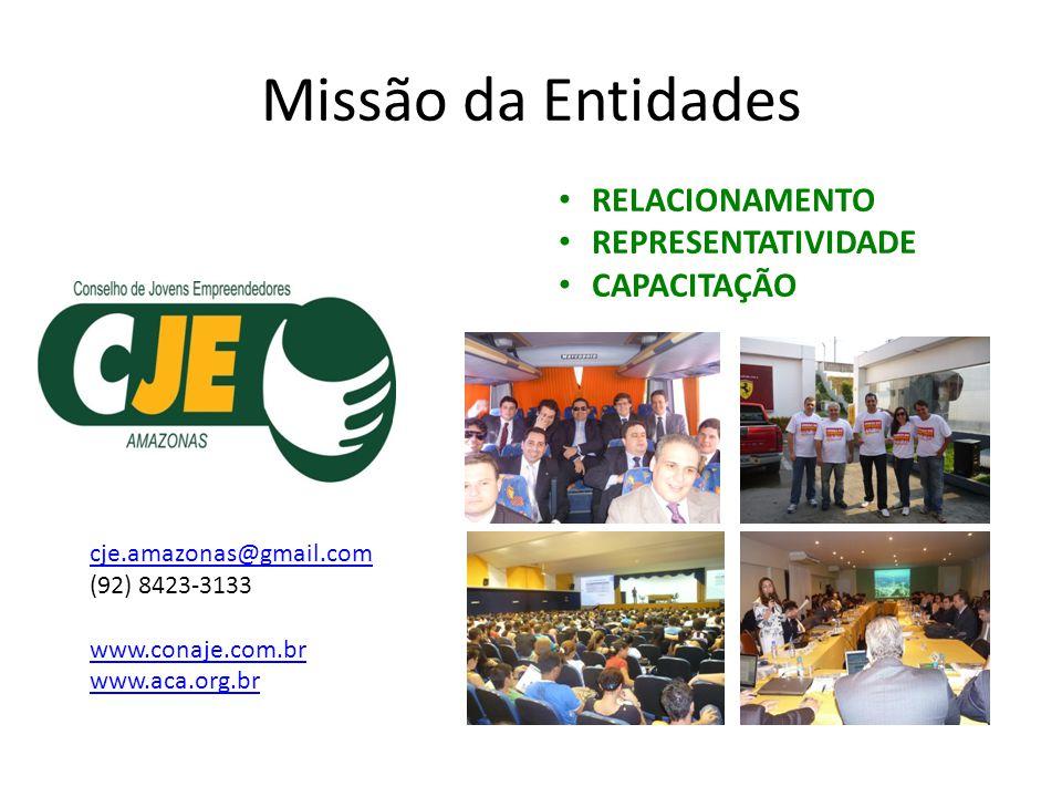 Missão da Entidades RELACIONAMENTO REPRESENTATIVIDADE CAPACITAÇÃO