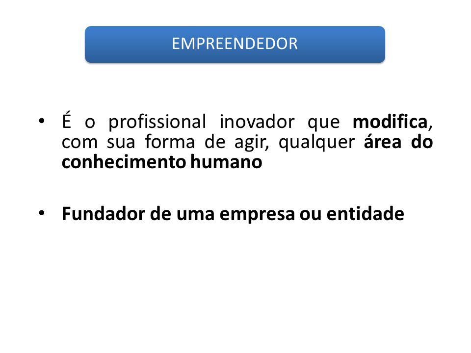 Fundador de uma empresa ou entidade