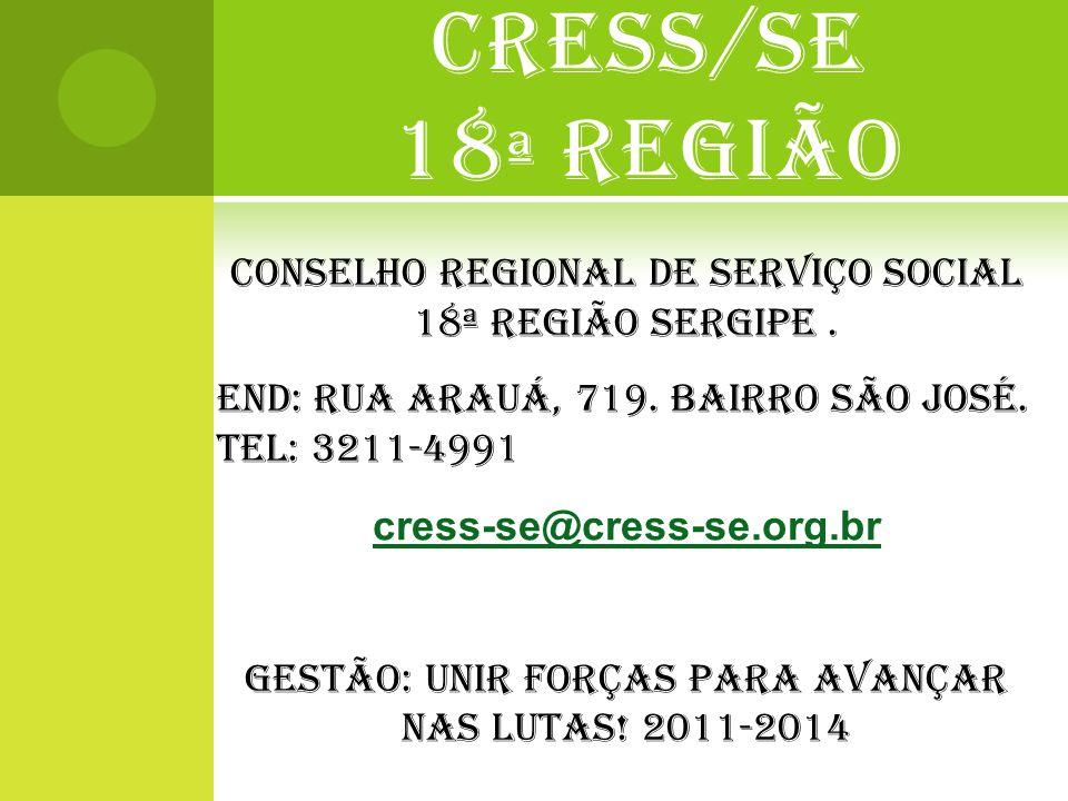 CRESS/SE 18ª REGIÃO