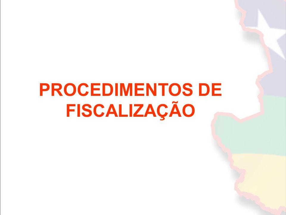 PROCEDIMENTOS DE FISCALIZAÇÃO