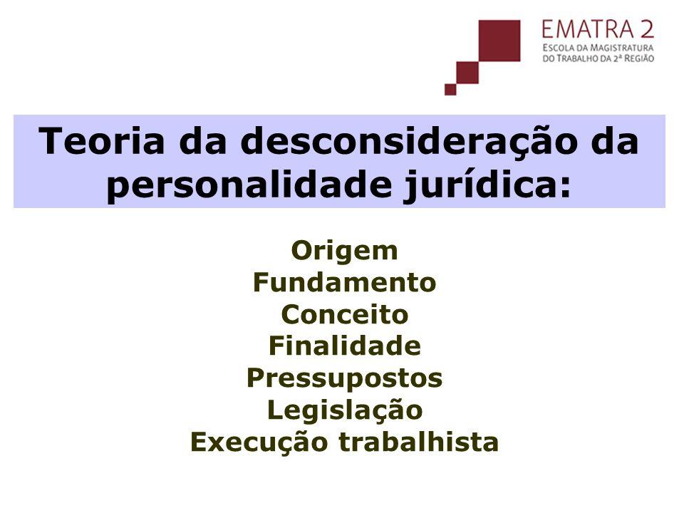 Teoria da desconsideração da personalidade jurídica:
