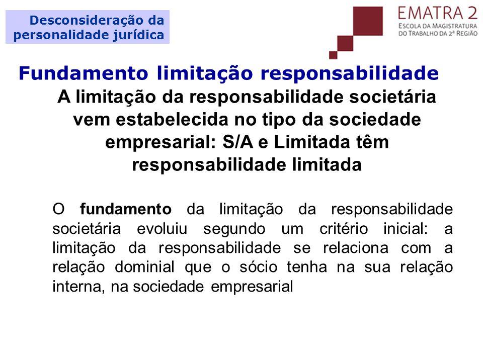 Fundamento limitação responsabilidade