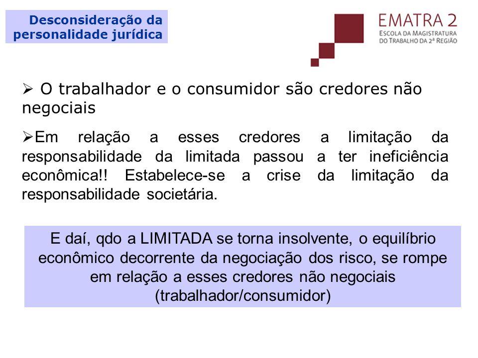 O trabalhador e o consumidor são credores não negociais
