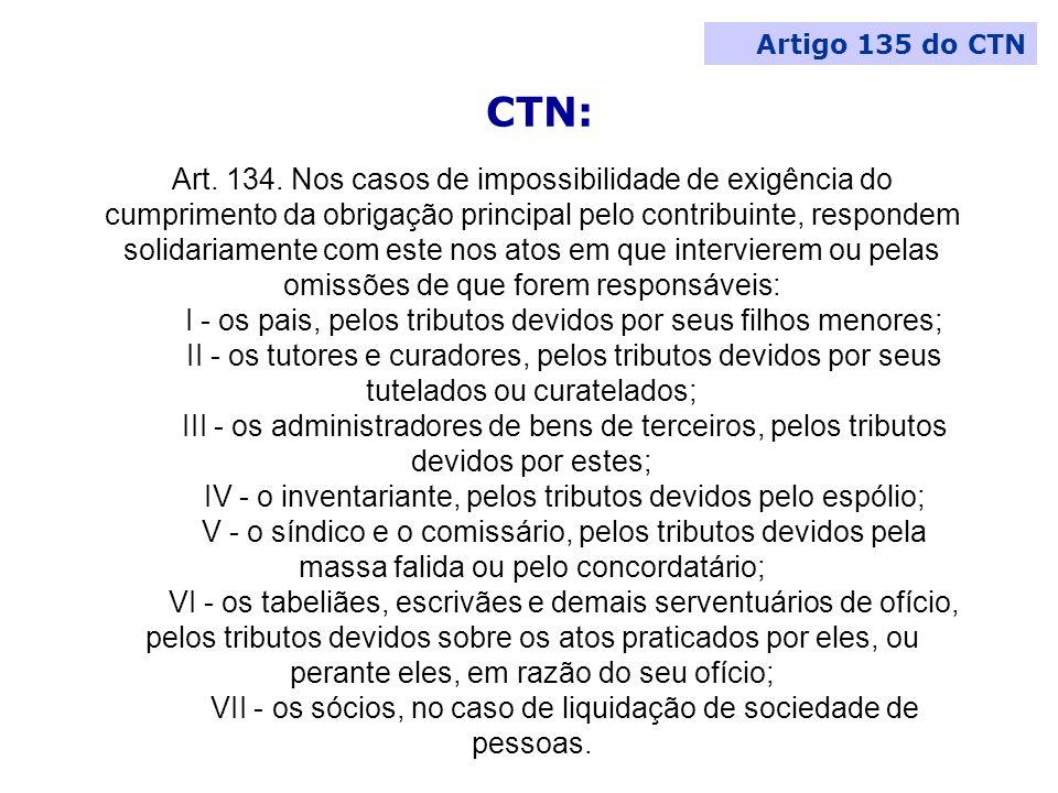Artigo 135 do CTN CTN: