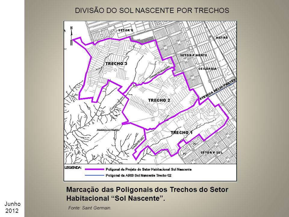 DIVISÃO DO SOL NASCENTE POR TRECHOS