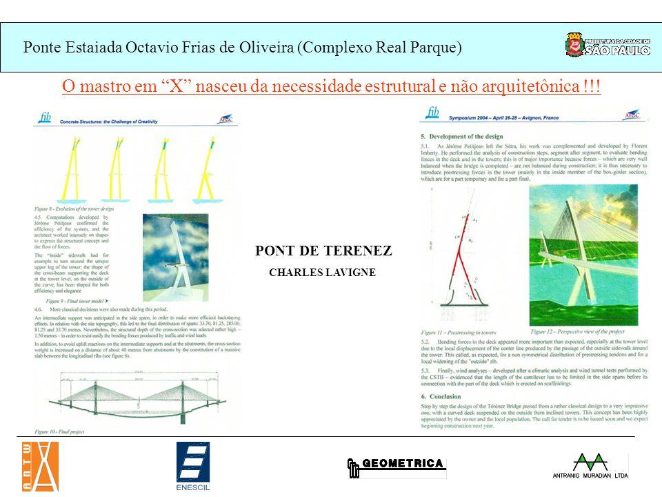 O mastro em X nasceu da necessidade estrutural e não arquitetônica !!!