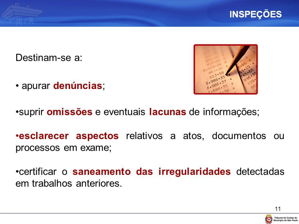 suprir omissões e eventuais lacunas de informações;