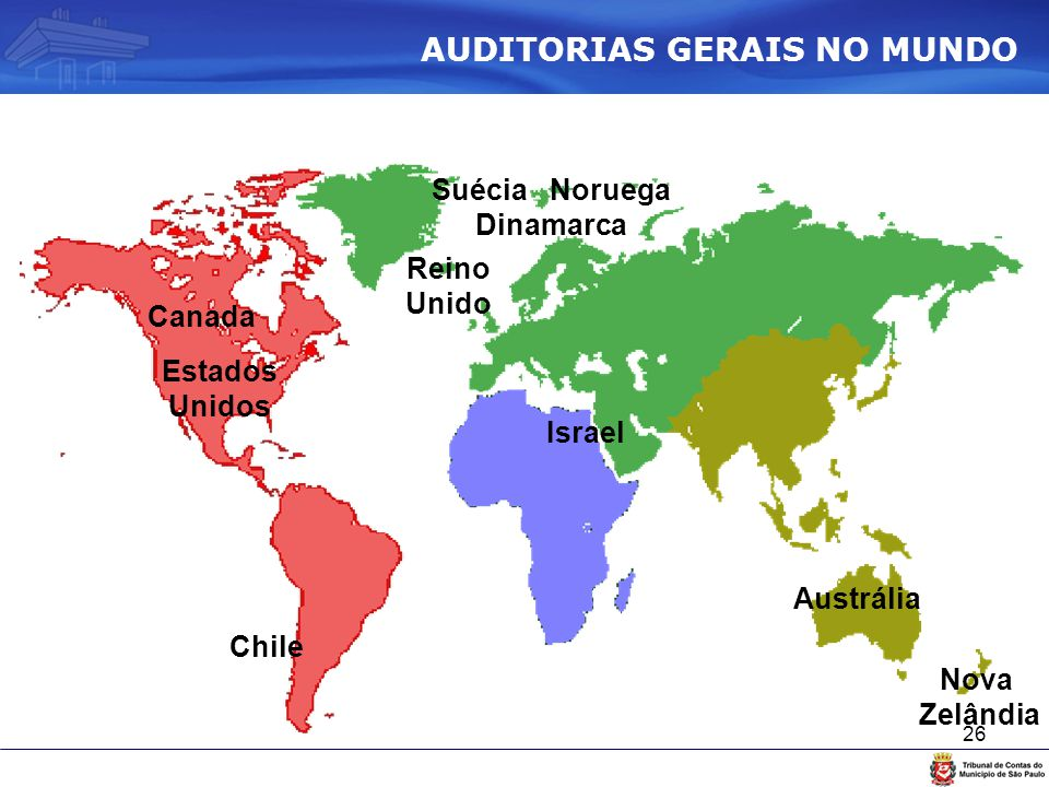 AUDITORIAS GERAIS NO MUNDO