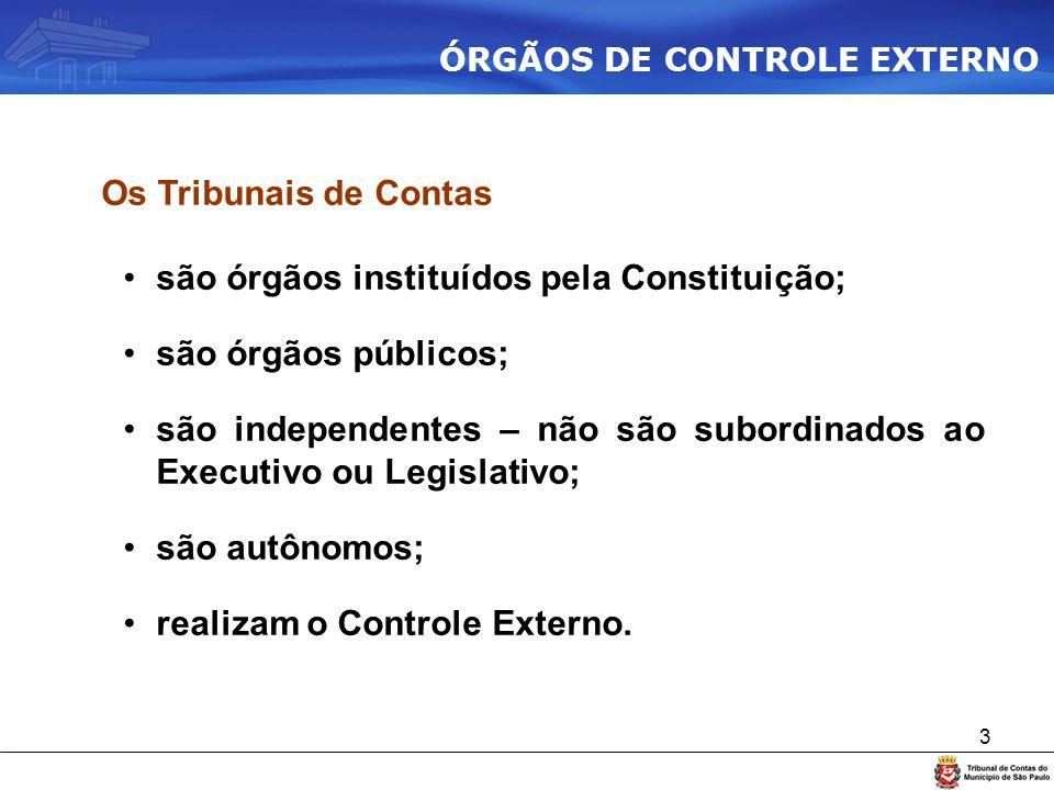 são órgãos instituídos pela Constituição; são órgãos públicos;