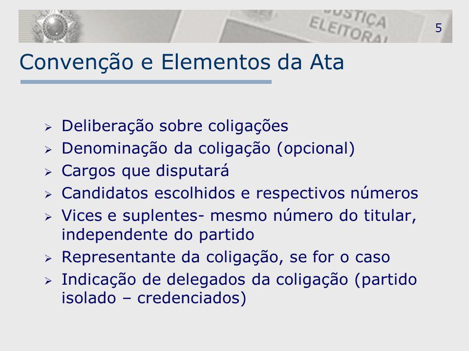 Convenção e Elementos da Ata