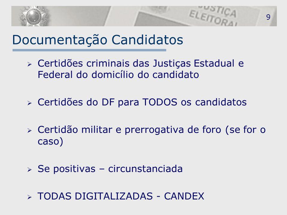 Documentação Candidatos