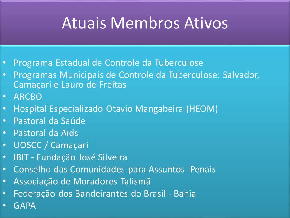 Atuais Membros Ativos Programa Estadual de Controle da Tuberculose