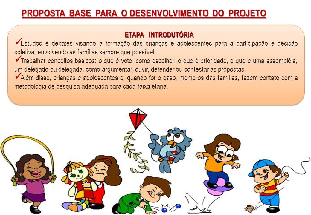 Proposta base para o desenvolvimento do Projeto