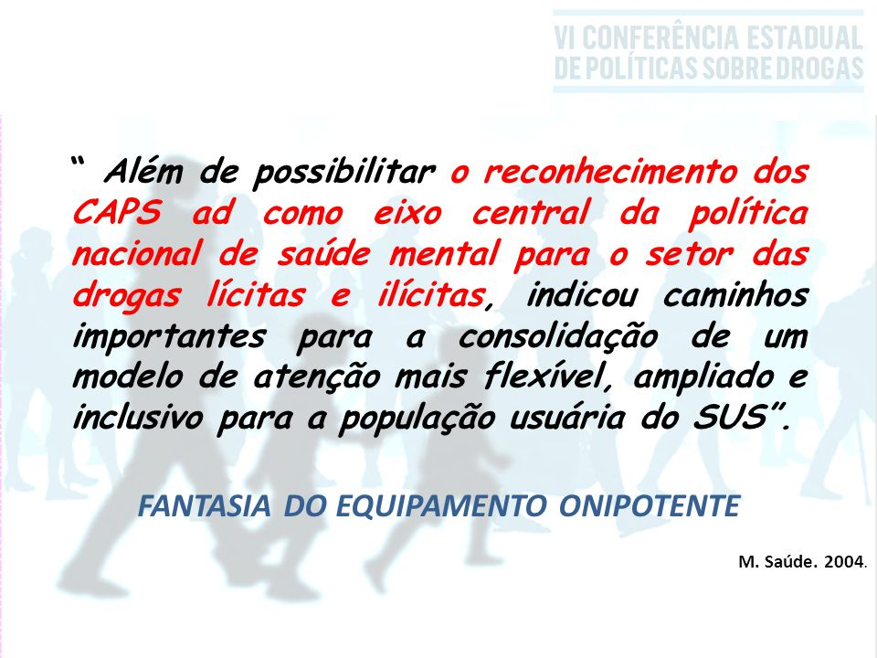 FANTASIA DO EQUIPAMENTO ONIPOTENTE