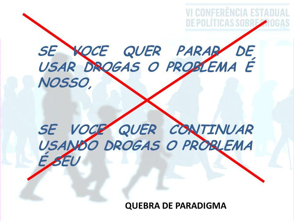SE VOCE QUER PARAR DE USAR DROGAS O PROBLEMA É NOSSO,