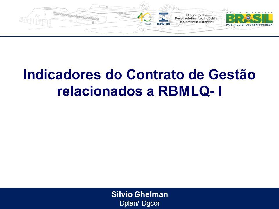 Indicadores do Contrato de Gestão relacionados a RBMLQ- I