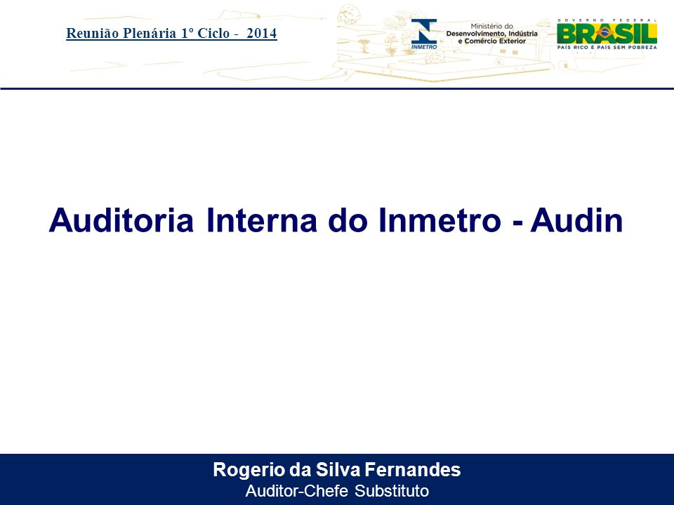 Auditoria Interna do Inmetro - Audin