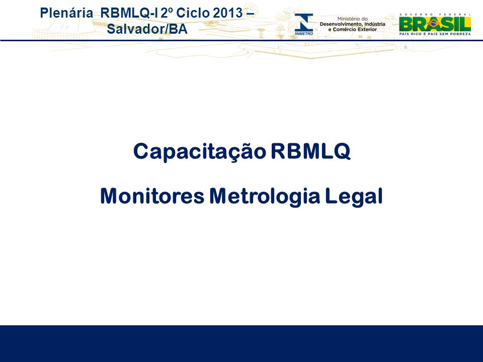 Monitores Metrologia Legal