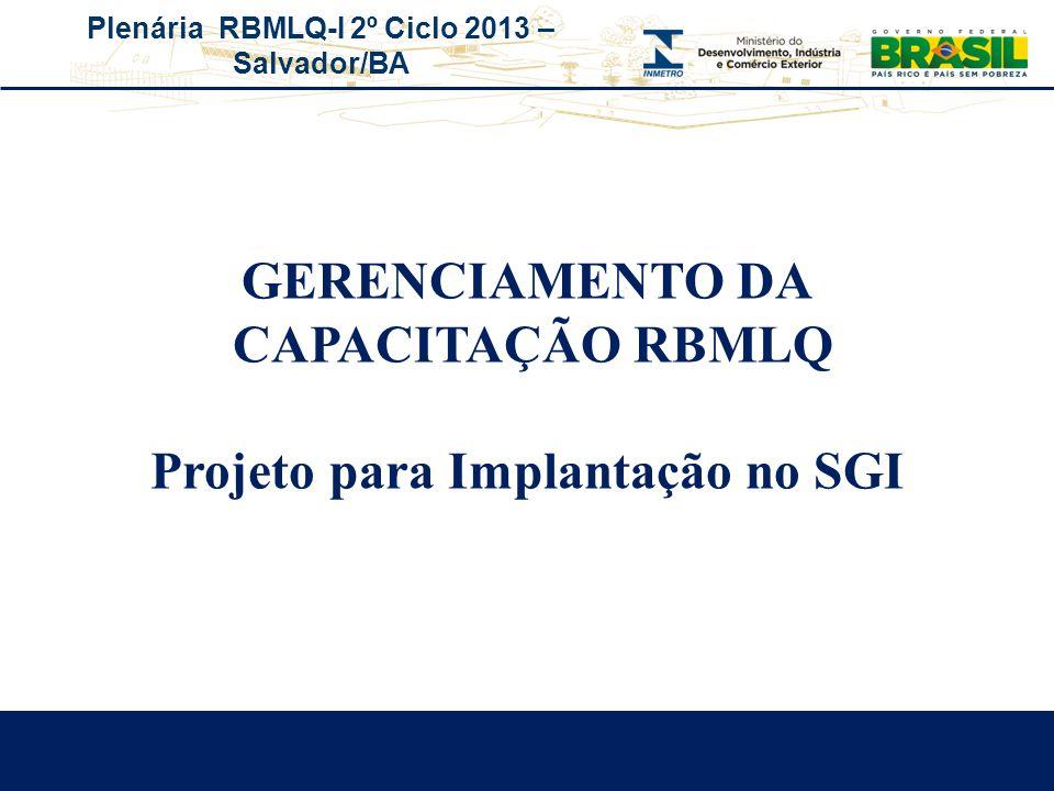 Projeto para Implantação no SGI