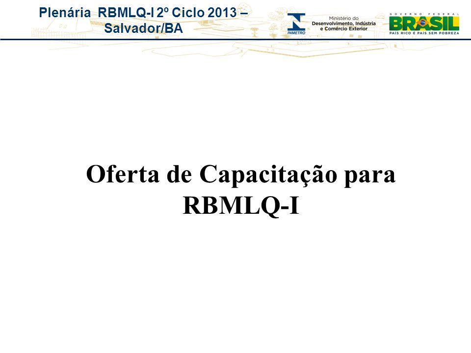 Oferta de Capacitação para RBMLQ-I