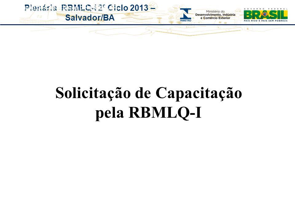 Solicitação de Capacitação pela RBMLQ-I