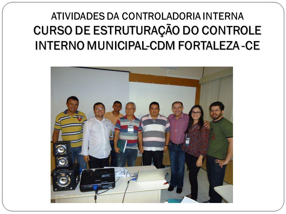ATIVIDADES DA CONTROLADORIA INTERNA CURSO DE ESTRUTURAÇÃO DO CONTROLE INTERNO MUNICIPAL-CDM FORTALEZA -CE